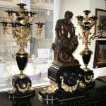 brąz/złocenia/marmur,figura Guliano di Medici,wys.83cm-90cm
