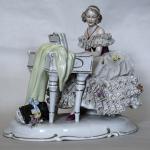 porcelana,farby podszkliwne,wys.18cm