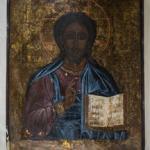 Chrystus Zbawca,43x34cm,Rosja  ok.1800