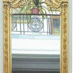 drewno złocone,tafla lustrzana,wys.280x130x15cm,Francja k.XIXw