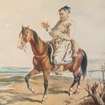 J.Kossak,akw/pap,sygn.l.dół.1881r.,50x35cm